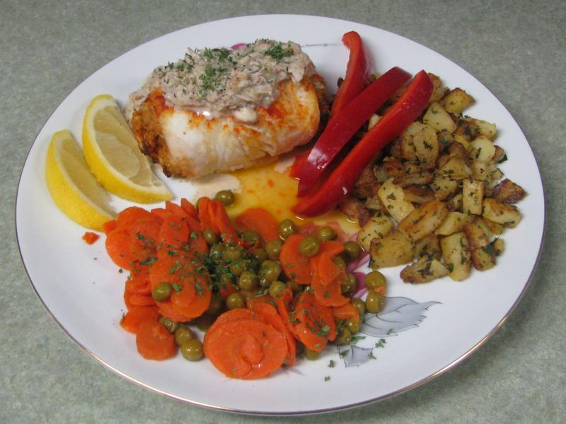 Crab Stuffed Orange Roughy