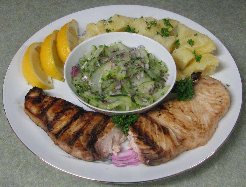 Grilled 8oz Swordfish Steak